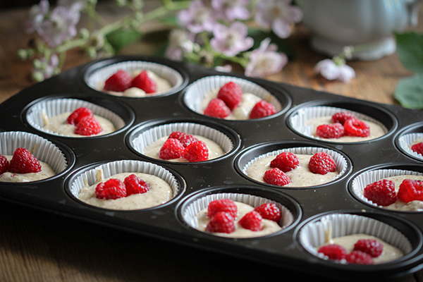 Vegane Himbeermuffins