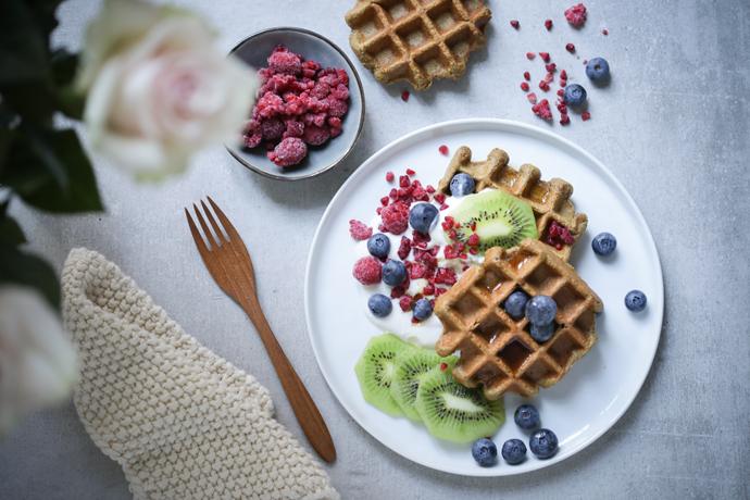 Schnelle, vegane Frühstückswaffeln (glutenfrei)