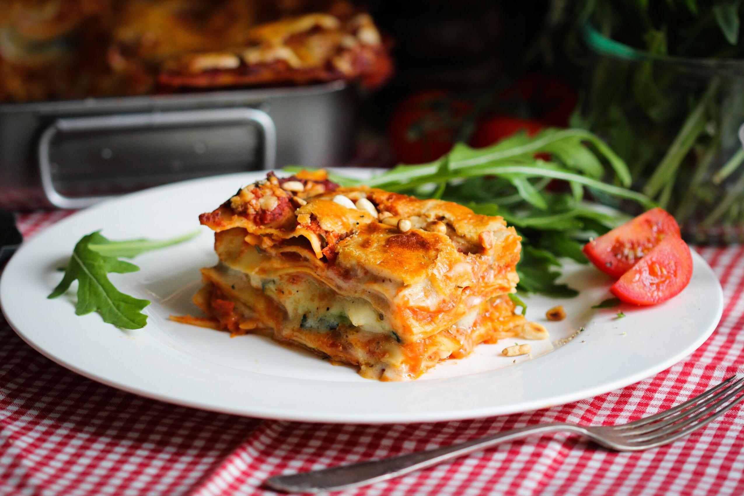 Cremig sahnige Lasagne