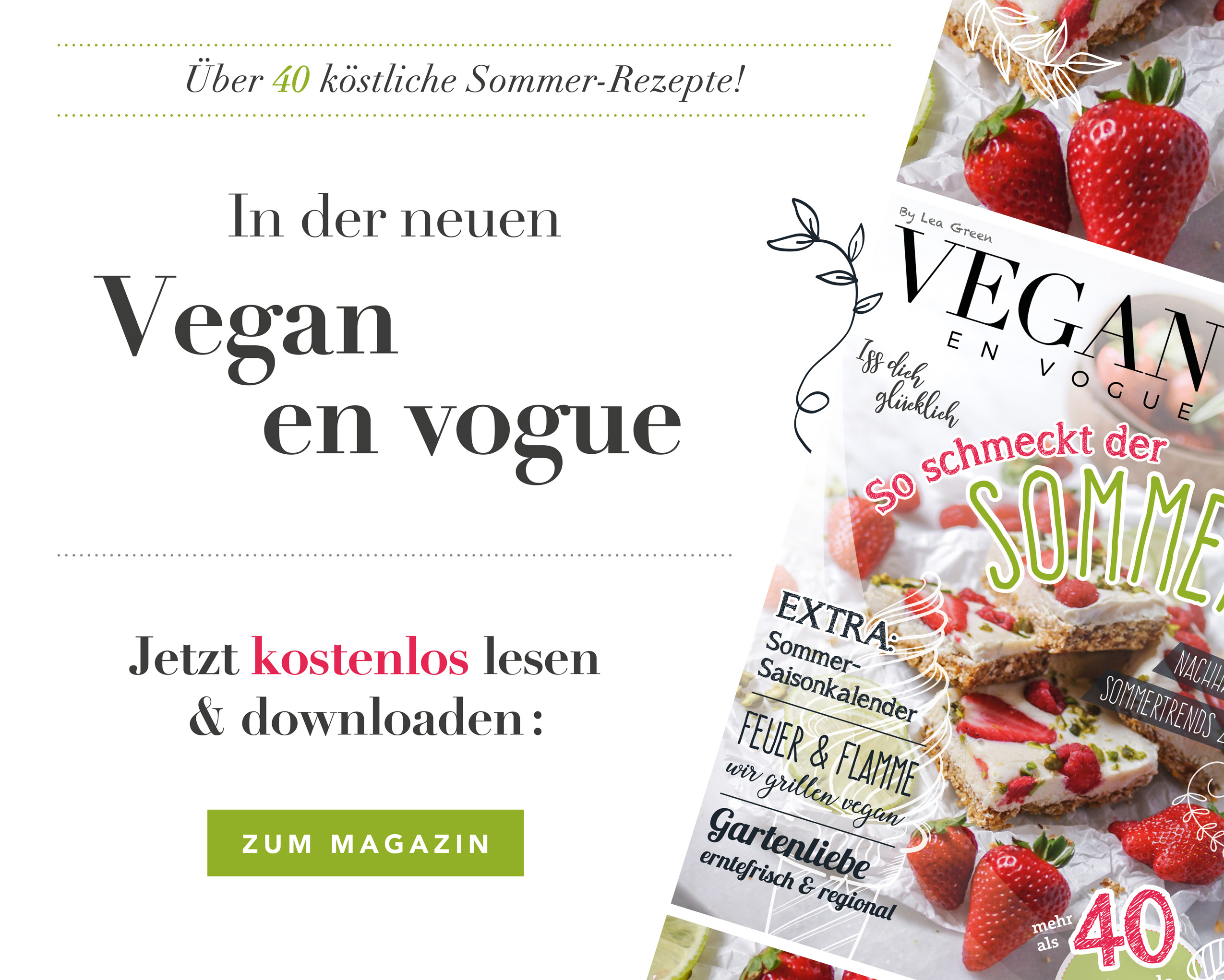 Vegan en Vogue - Sommerausgabe 2020