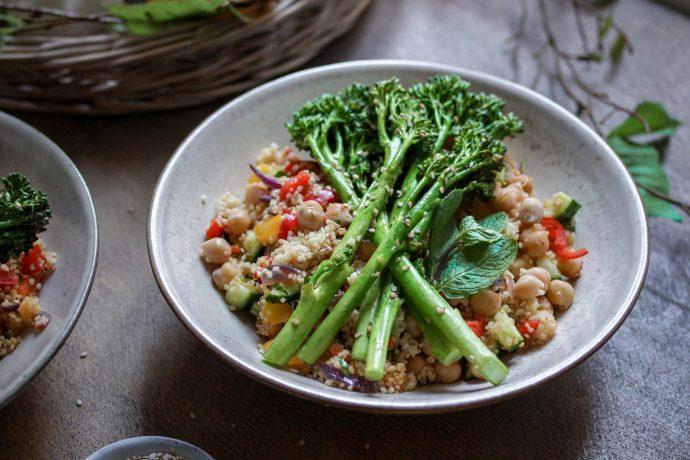 Bunte Couscous-Pfanne mit Bimi® Brokkoli