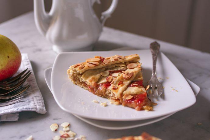 Delicious vegan Rhubarb Pie