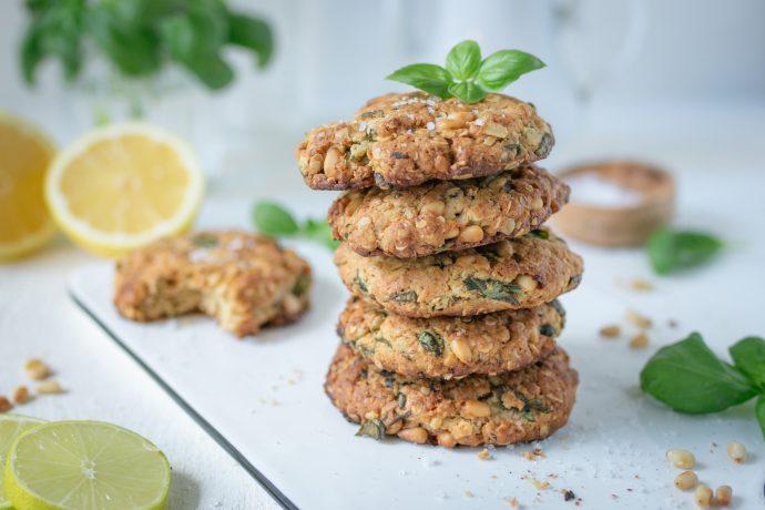 Pinienkern-Basilikum Sommer-Cookies